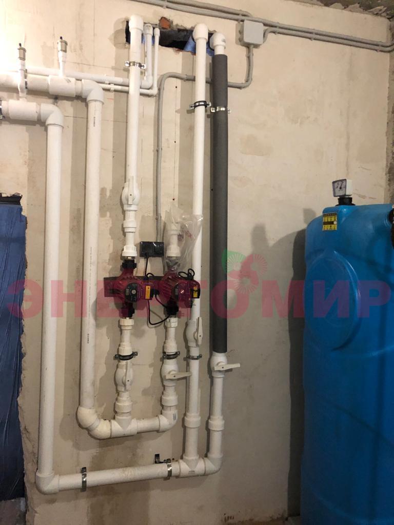 Монтаж системы отопления и циркуляционных насосов