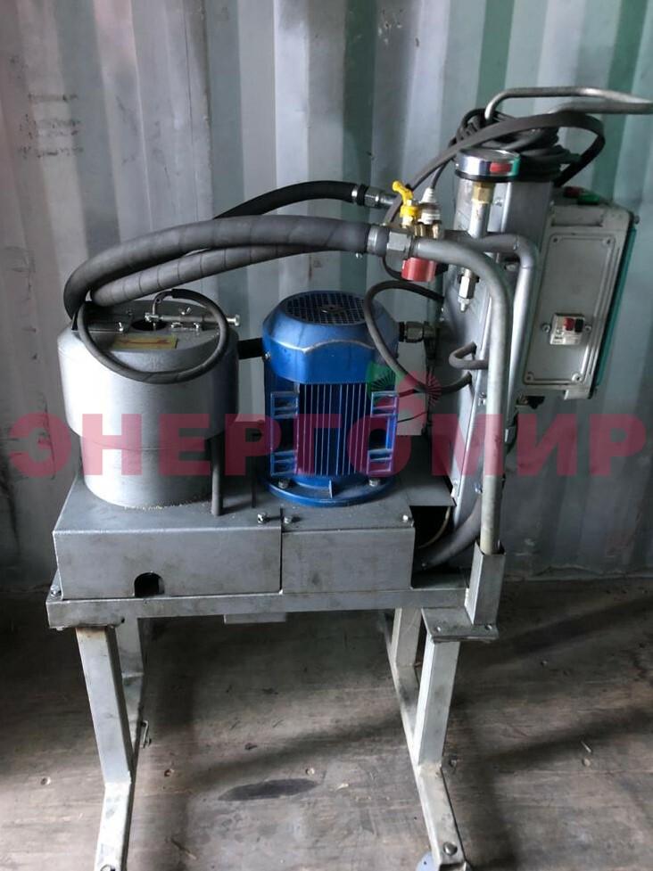 Центрифуга для очистки жидкого топлива от механических примесей (установлена по рекомендации)