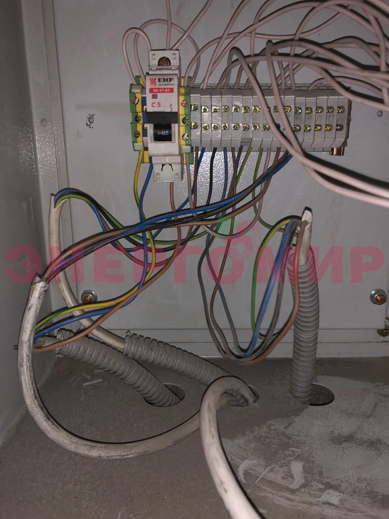 Ненадлежащий монтаж электрической части
