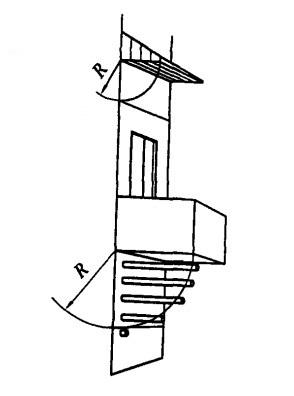 Схема размещения дымового канала под навесом или балконом