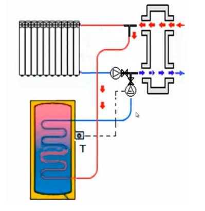 Схема обвязки с обратными клапанами