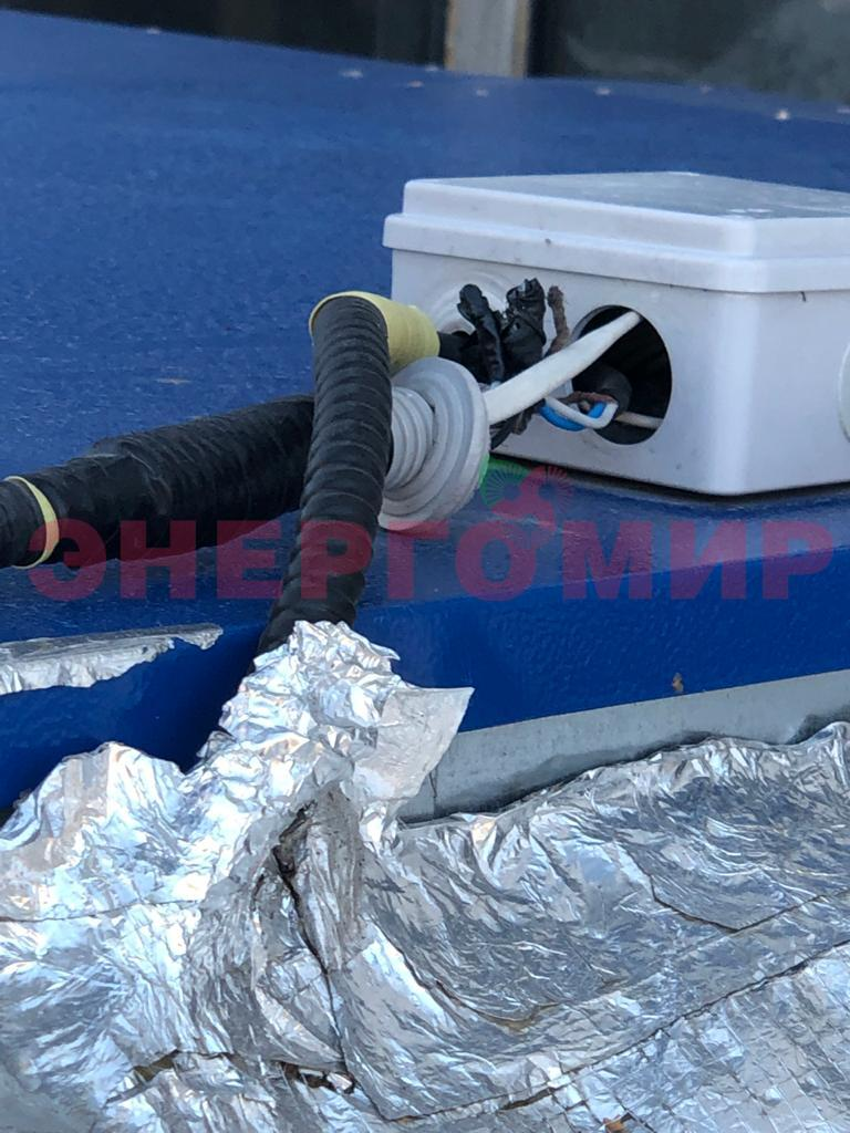 Нарушение герметичности аварийного термостата теплогенератора