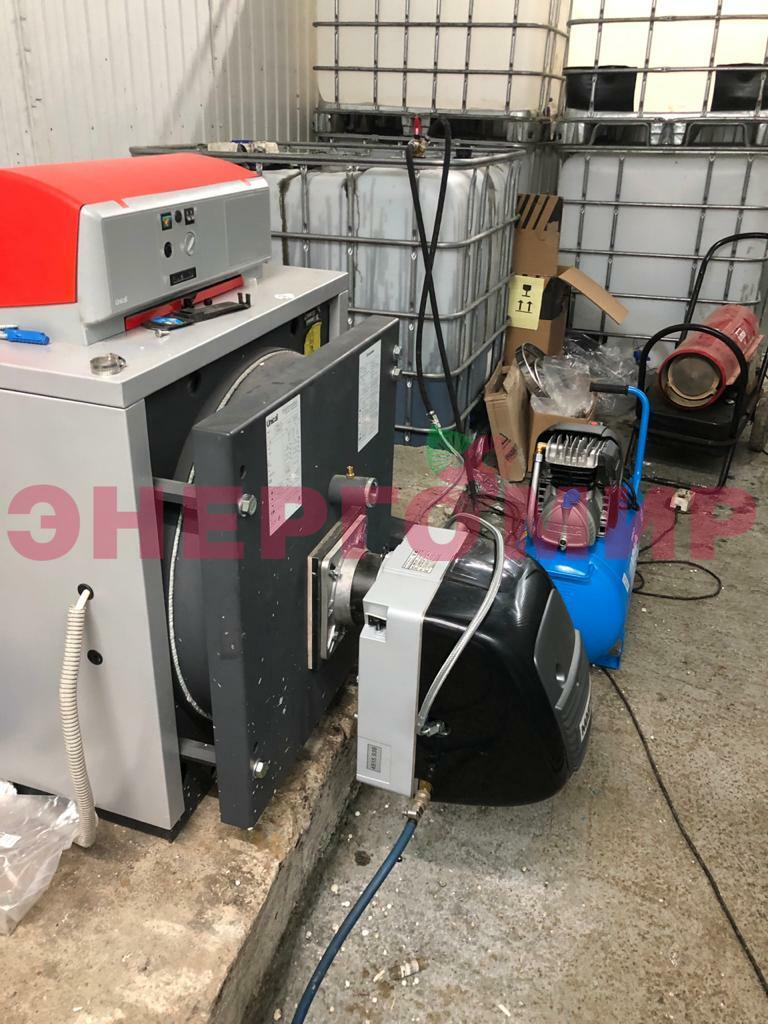 Оборудование и монтаж котельной на отработанном масле для СТО, г.Тюбук
